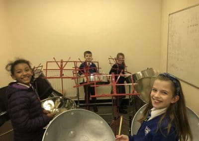 group tuition steel pan drums